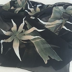 full moon scarf Accessories - Hand painted silk chiffon scarf